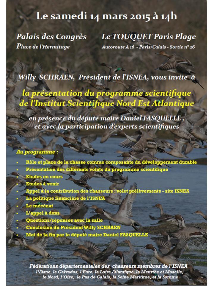 Prochaine réunion publique de l'ISNEA le 14/03/15 à 14h au Touquet