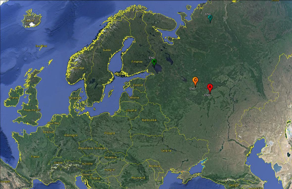 Nos 4 siffleurs sont toujours en Russie !