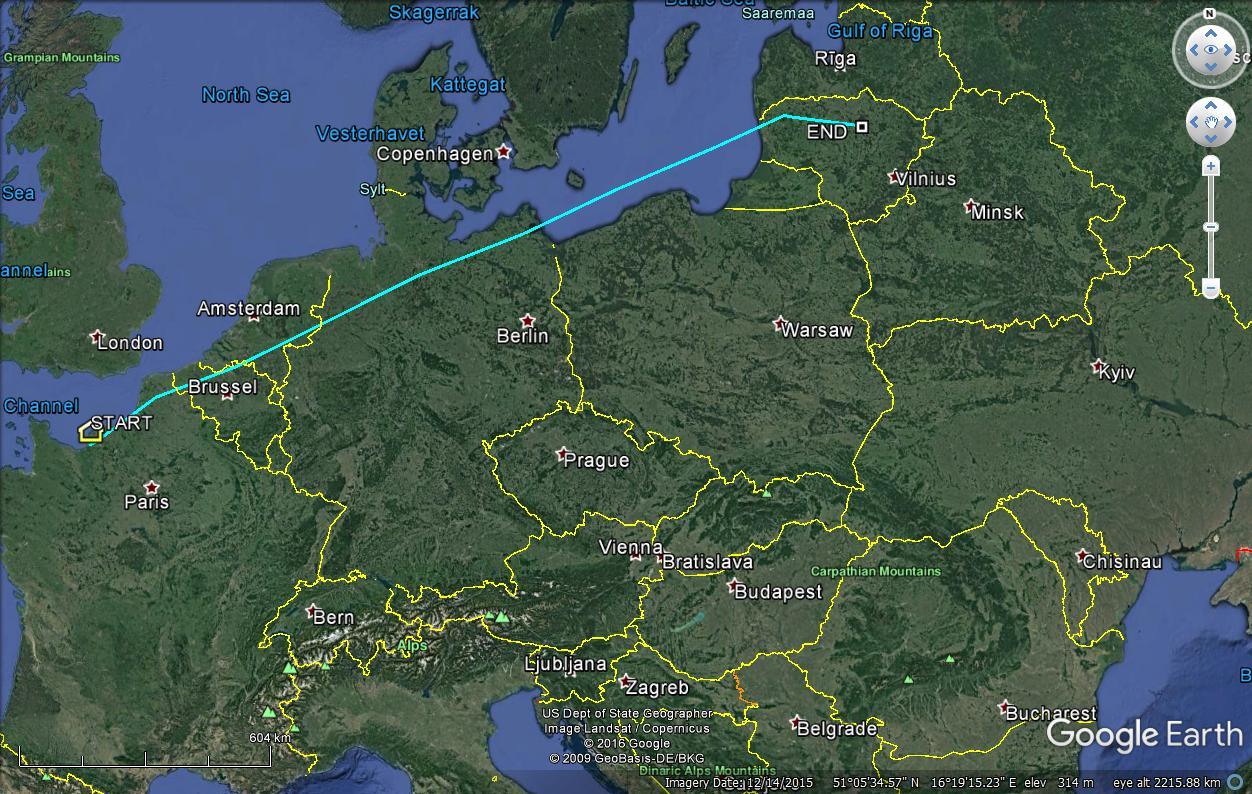 Notre courlis Romu déjà dans les pays baltes